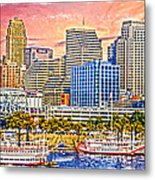 The Garish City Cincinnati Metal Print