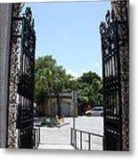 The Gate At Vizcaya Gardens Metal Print
