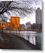 The Gates - Central Park New York - Harlem Meer Metal Print by Gary Heller