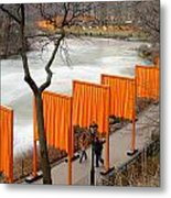The Gates In Central Park Metal Print