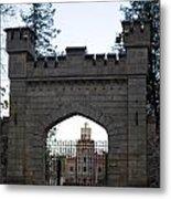 The Gates Leading Into New Sigulda Castle Metal Print