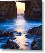 The Gateway - Sunset On Arch Rock In Pfeiffer Beach Big Sur In California. Metal Print by Jamie Pham