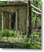 The Gazebo In The Woods Metal Print