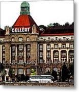 The Gellert Hotel Metal Print