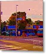 The Georgetown Sports Pub Soccer Bar Bank St The Glebe Paintings Of Ottawa Carole Spandau Artist Metal Print