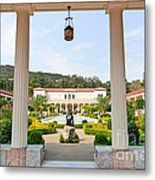 The Getty Villa Main Courtyard View From Covered Walkway. Metal Print