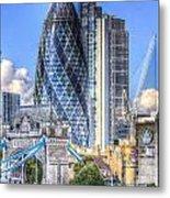 The Gherkin And Tower Bridge Metal Print