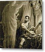 The Ghost Of Julius Caesar, In The Play Metal Print