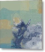 The Giant Butterfly And The Moon - J216094206-c09a Metal Print by Variance Collections