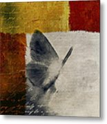 The Giant Butterfly And The Moon - S09-22cbrt Metal Print by Variance Collections