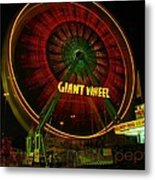 The Giant Wheel Spinning  Metal Print