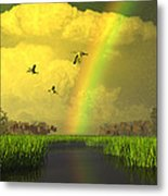 The Gift Of Light Metal Print