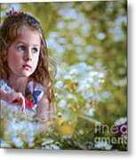 The Girl And The Butterfly Metal Print