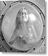 The Girl In The Bubble Metal Print