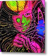 The Girl In The Glass Egg Metal Print