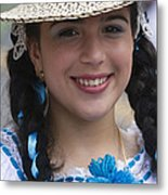 The Girl With The Panama Hat Metal Print