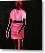 The Girl In The Shadow Metal Print