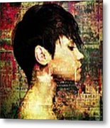 The Girl Who Loved Languages Metal Print