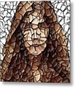 The Girl With No Face Metal Print