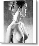 The girl with the glass earring Metal Print