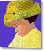 The Girl With The Straw Hat Metal Print