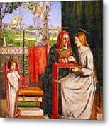 The Girlhood Of Mary Virgin Metal Print