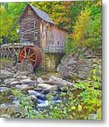 The Glade Grist Mill Metal Print
