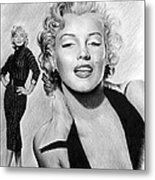 The Glamour Days Marilyn Monroe Metal Print