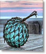 The Glass Fishing Float Metal Print by JC Findley