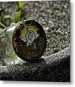 The Glass Jar From The Tsunami Metal Print