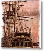 The Gleaming Hull Of The Hms Bounty Metal Print by Debra and Dave Vanderlaan