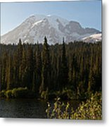 The Glow Of Mount Rainier Metal Print
