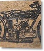 The Gold Medal Motorcycle 1925 Metal Print