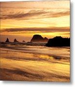 The Golden Coast Metal Print by Darren  White