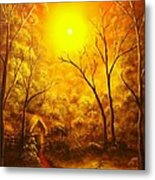 The Golden Dream-original Sold-buy Giclee Print Nr 31 Of Limited Edition Of 40 Prints  Metal Print
