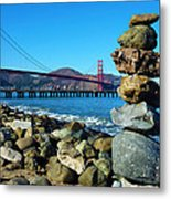 The Golden Gate Rock Pile Metal Print