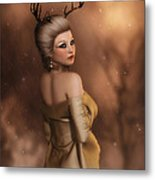 The Golden Stag  Metal Print