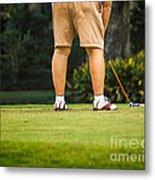 The Golfer Metal Print