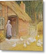 The Goose Girl Metal Print by Arthur Claude Strachan