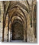 The Gothic Cloisters Inside The Crusader Castle Of Krak Des Chevaliers Syria Metal Print