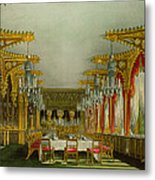 The Gothic Dining Room At Carlton House Metal Print