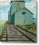 The Grain Elevator Metal Print