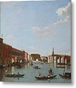 The Grand Canal And San Geremia, Venice, 18th Century Metal Print