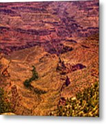 The Grand Canyon From Bright Angel Lodge Metal Print