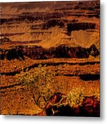 The Grand Canyon Vintage Americana Vi Metal Print