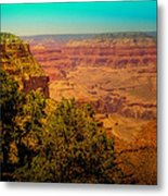 The Grand Canyon Vintage Americana Vii Metal Print