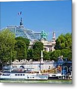 The Grand Palais And The Alexandre Bridge Paris Metal Print