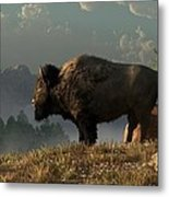The Great American Bison Metal Print
