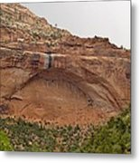 The Great Arch At Zion Natioal Park Metal Print