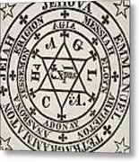 The Great Magic Circle Of Agrippa For The Evocation Of Demons Metal Print